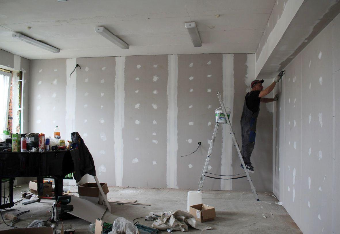 gipso montavimas ant sienu ant lubu